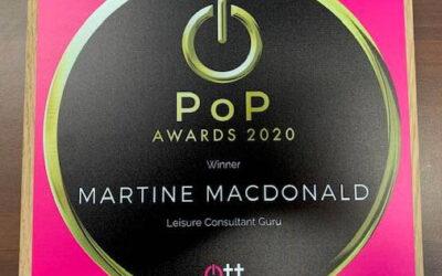 PoP award for OTT Leisure Consultant Guru 2020